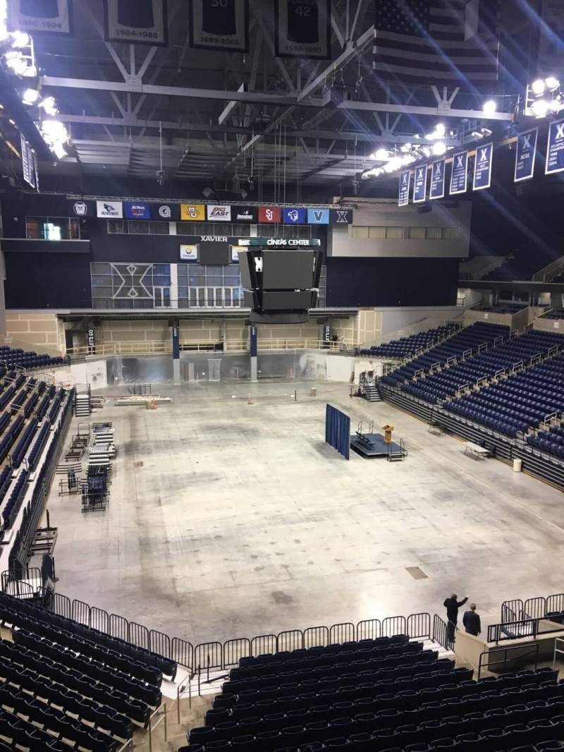 Seating view for Cintas Center Section 201 Row B Seat 6