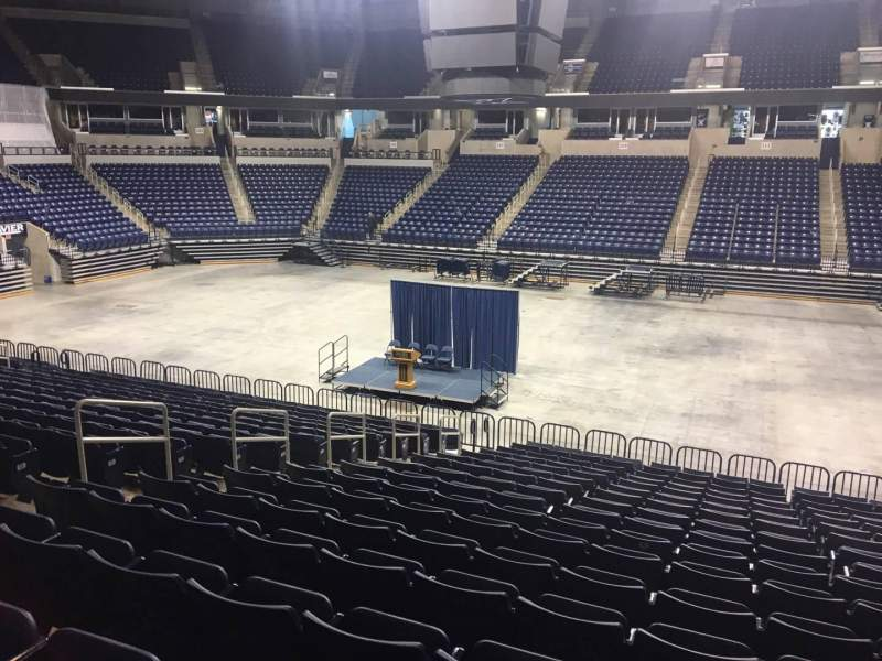 Seating view for Cintas Center Section 112 Row V Seat 3