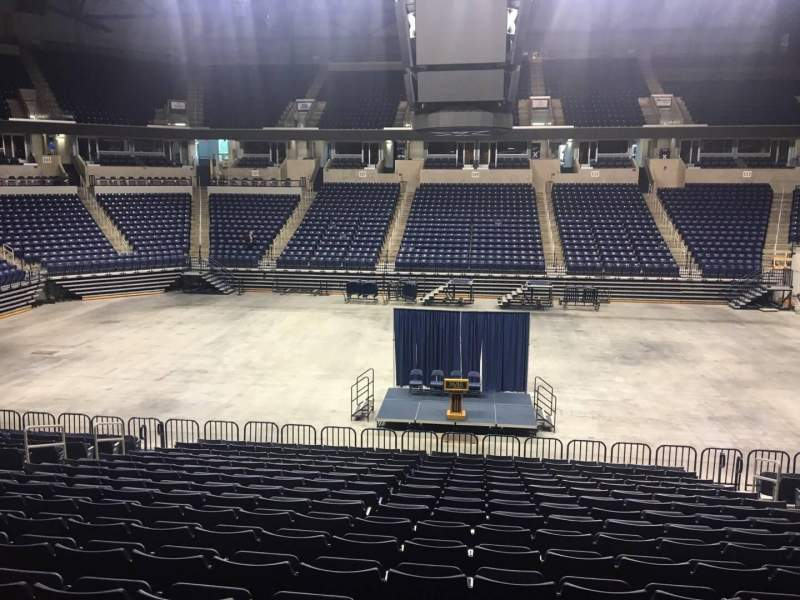 Seating view for Cintas Center Section 110 Row V Seat 5