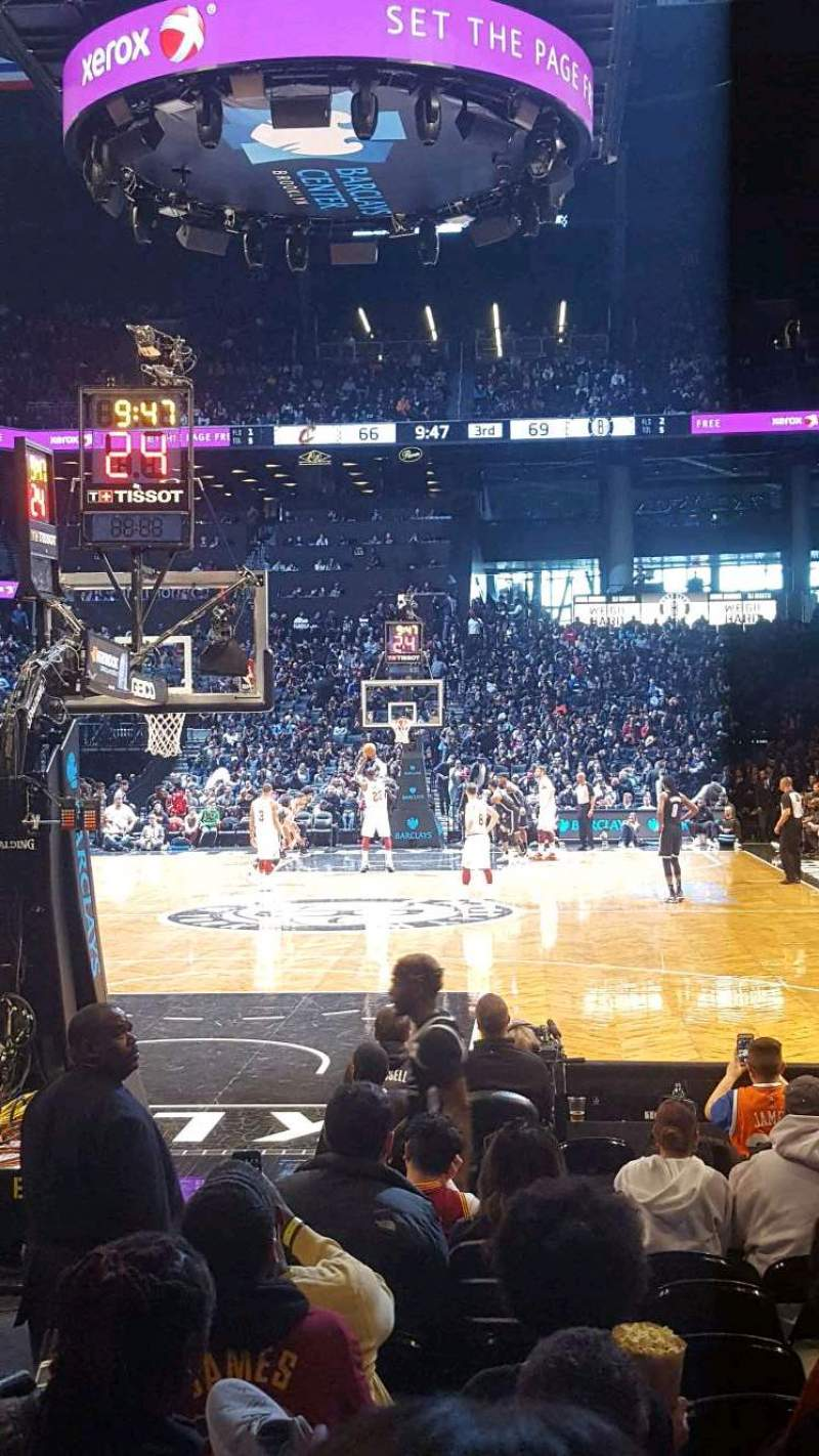 Seating view for Barclays Center Section 16 Row 5 Seat 4