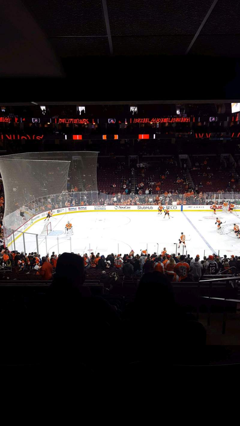 Seating view for Wells Fargo Center Section CB23 Row 1 Seat 14