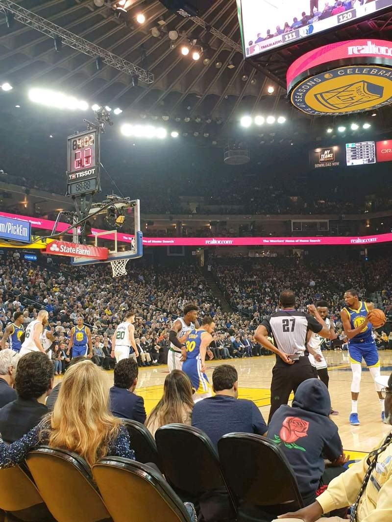 Seating view for Oracle Arena Section 5 Row A2 Seat 7