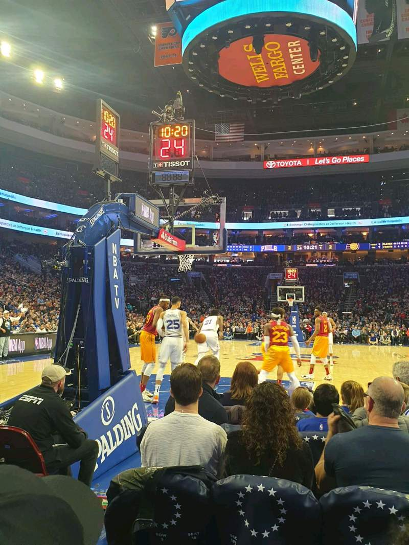 Seating view for Wells Fargo Center Section 108 Row B Seat 5