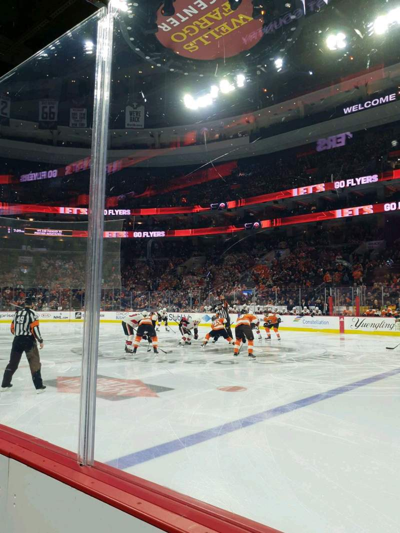 Seating view for Wells Fargo Center Section 114 Row 2 Seat 13