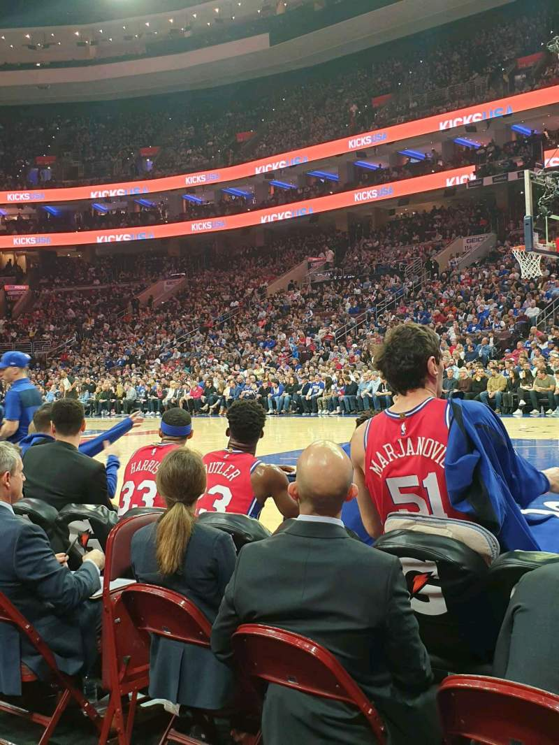 Seating view for Wells Fargo Center Section 103 Row BB Seat 5
