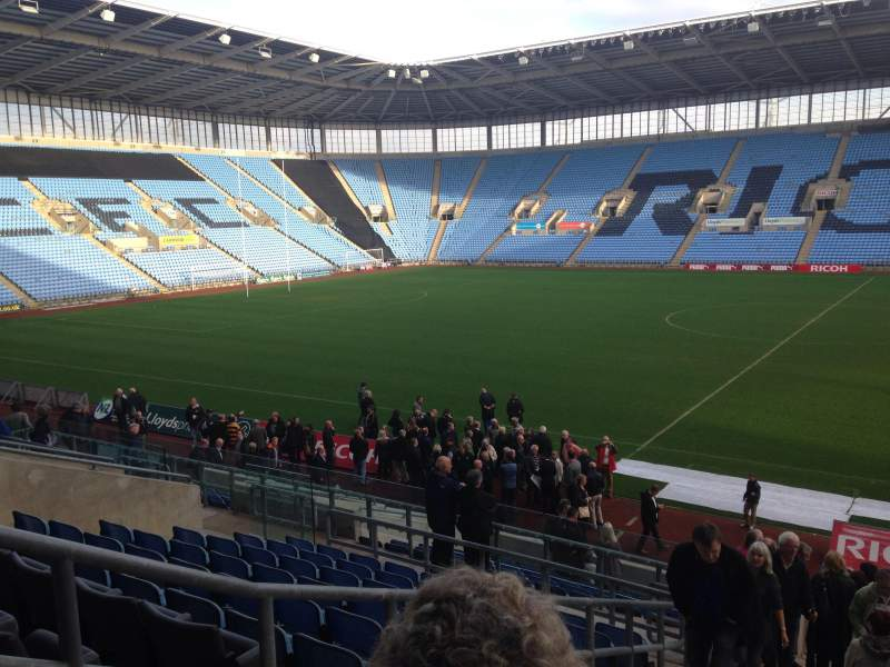 Seating view for Ricoh Arena Section E Row X Seat 19