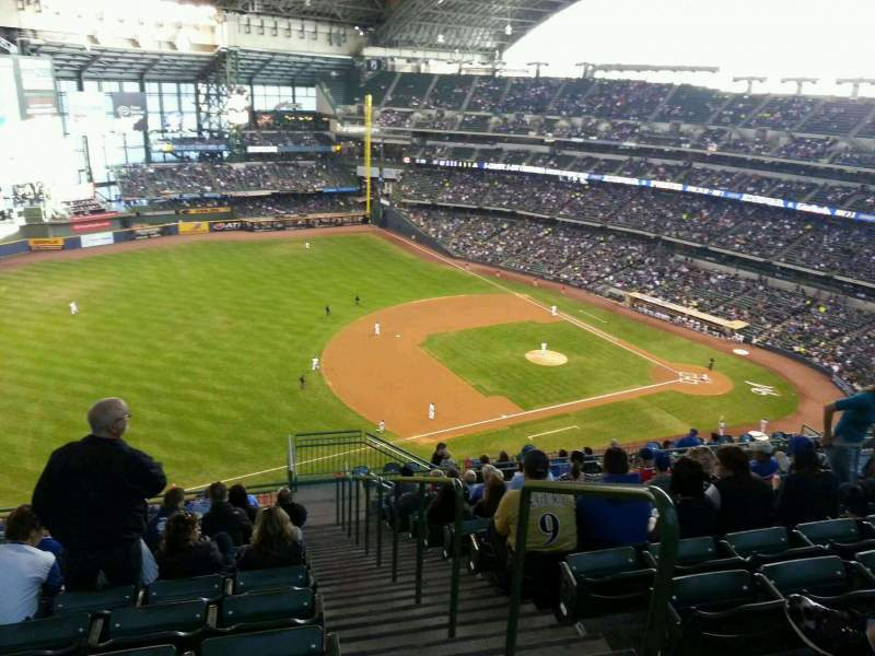 Seating view for Miller Park