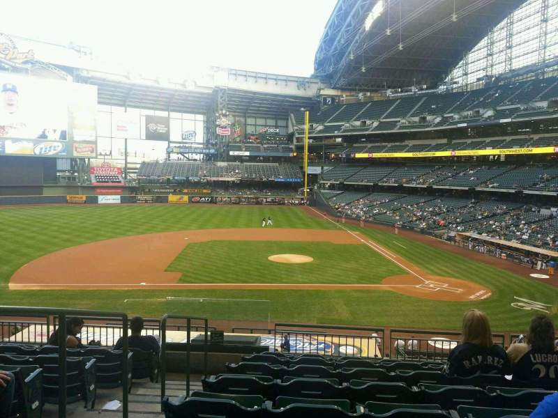 Seating view for Miller Park Section 223 Row 8