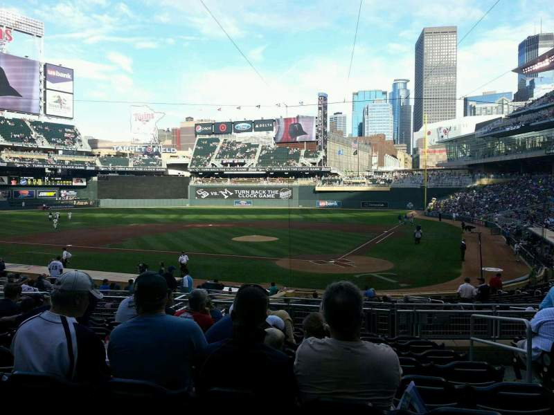 Seating view for Target Field Section 117 Row 9 Seat 3