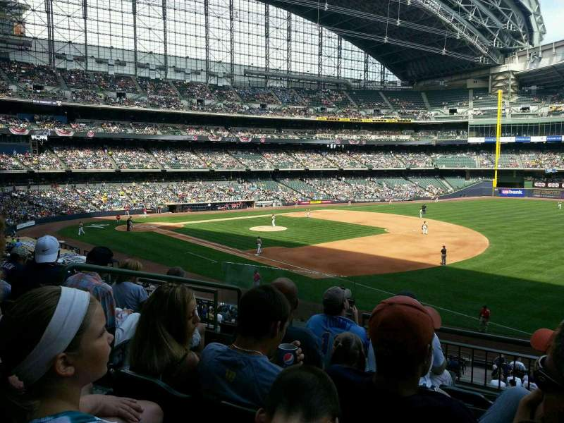 Seating view for Miller Park Section 209 Row 5 Seat 4