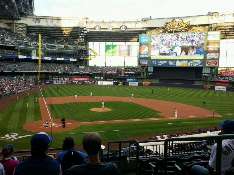 Seating view for Miller Park Section 216 Row 7 Seat 14