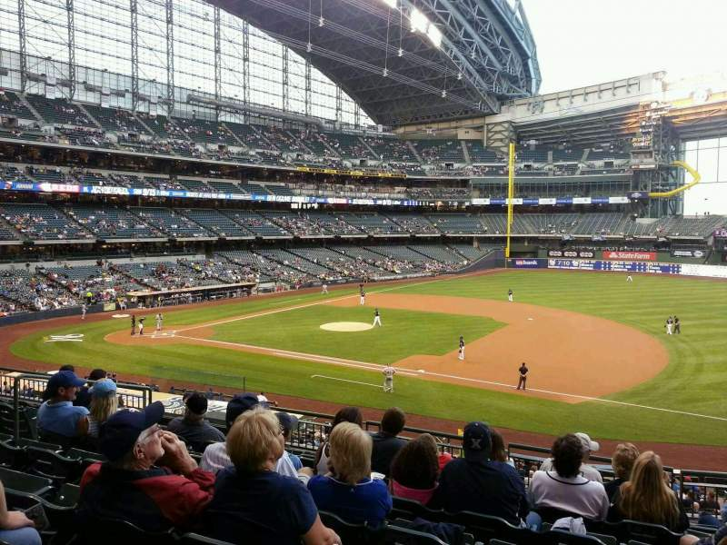 Seating view for Miller Park Section 211 Row 8 Seat 13
