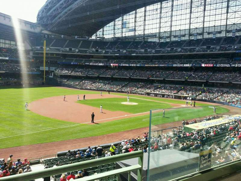 Seating view for Miller Park Section 228 Row 2 Seat 3