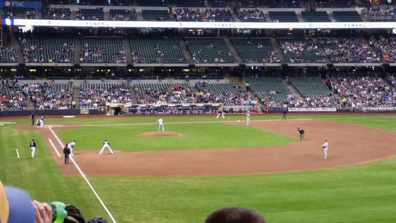 Seating view for Miller Park Section 206 Row 5 Seat 14