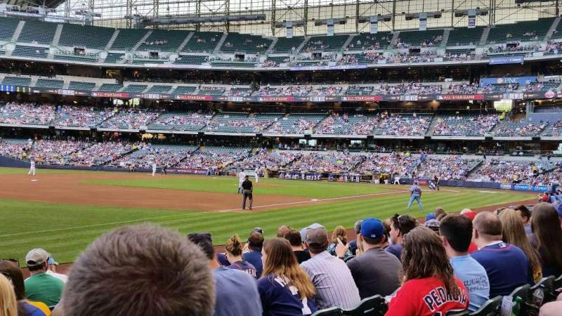Seating view for Miller Park  Section 126 Row 8 Seat 16