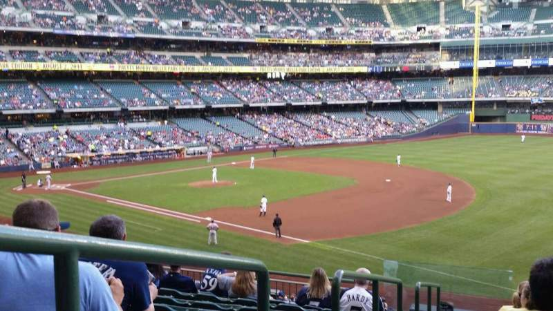 Seating view for Miller Park Section 209 Row 9 Seat 1