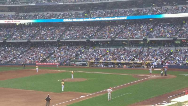Seating view for Miller Park Section 224 Row 3 Seat 20