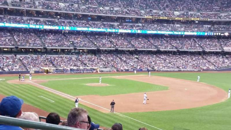 Seating view for Miller Park Section 208 Row 6 Seat 2