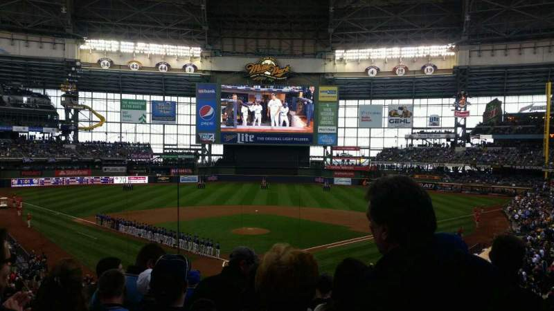 Seating view for Miller Park Section 218 Row 9 Seat 5