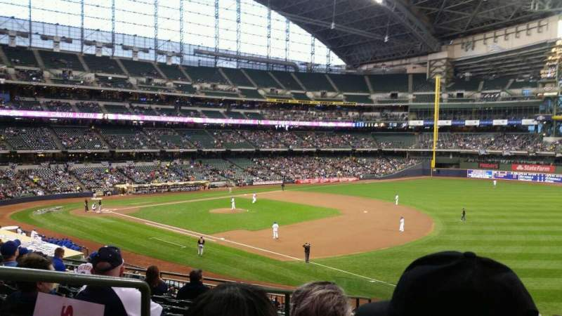 Seating view for Miller Park Section 209 Row 9 Seat 2