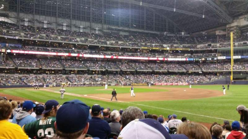 Seating view for Miller Park Section 109 Row 12 Seat 3