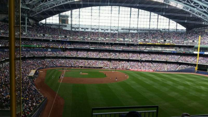 Seating view for Miller Park Section 305 Row 4 Seat 6