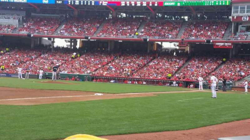 Seating view for Great American Ball Park Section 113 Row B Seat 13
