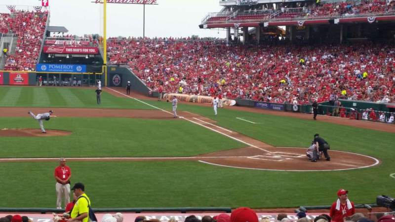 Seating view for Great American Ball Park Section 118 Row Z Seat 14