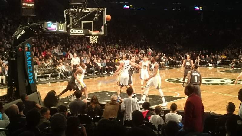 Seating view for Barclays Center Section 13 Row 5 Seat 10