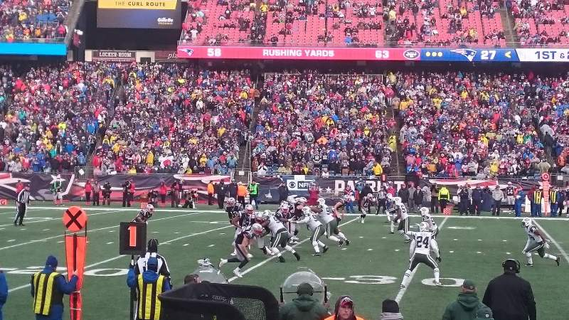 Seating view for Gillette Stadium Section 113 Row 4 Seat 12
