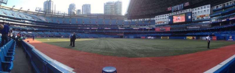 Seating view for Rogers Centre Section 113L Row 1 Seat 1