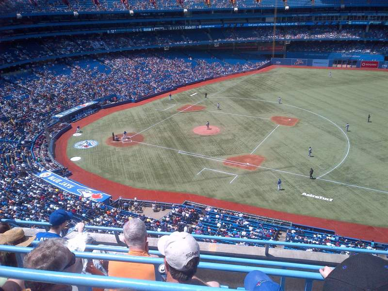 Seating view for Rogers Centre Section 516R Row 4 Seat 1