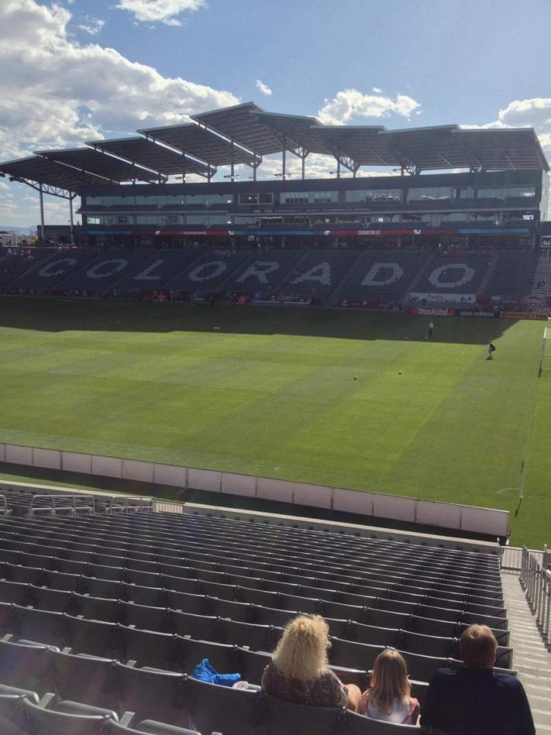 Seating view for Dick's Sporting Goods Park Section 102 Row 24 Seat 1