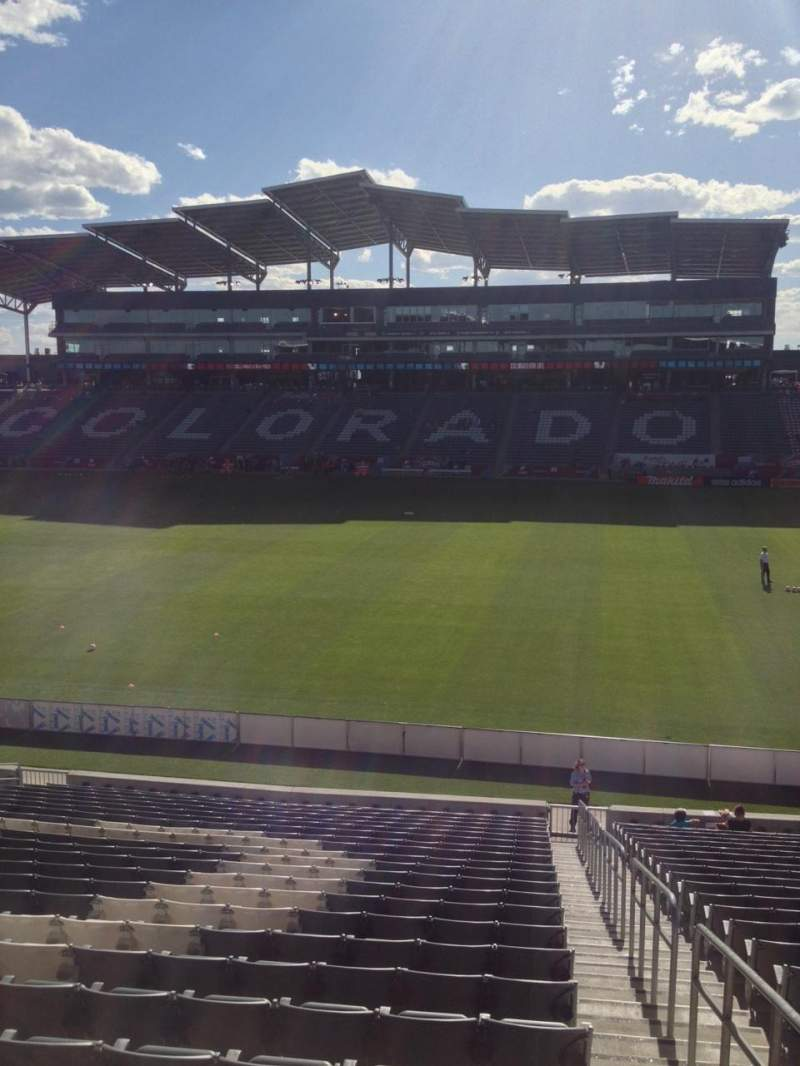 Seating view for Dick's Sporting Goods Park Section 104 Row 24 Seat 1