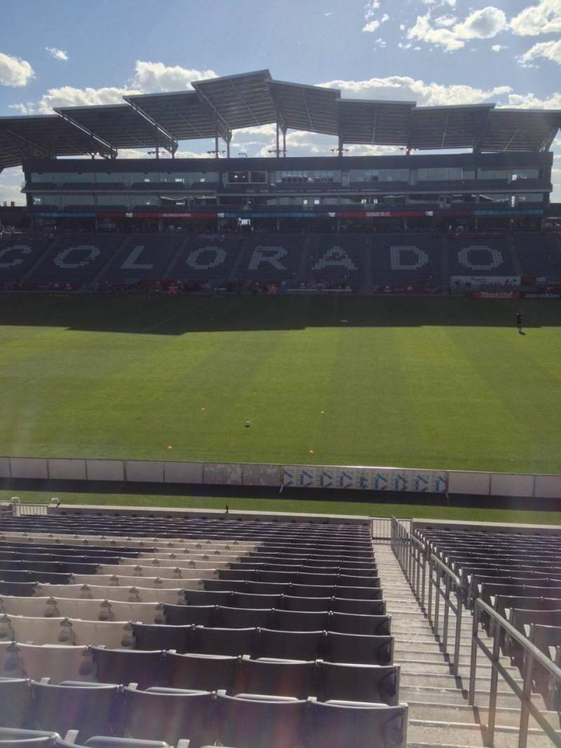 Seating view for Dick's Sporting Goods Park Section 105 Row 24 Seat 1