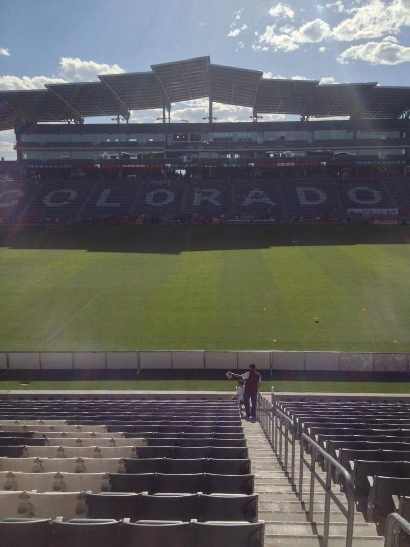Seating view for Dick's Sporting Goods Park Section 106 Row 21 Seat 1