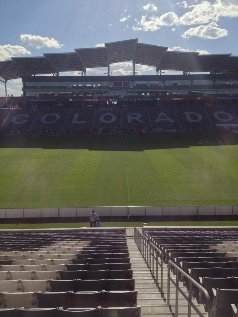 Seating view for Dick's Sporting Goods Park Section 107 Row 24 Seat 1