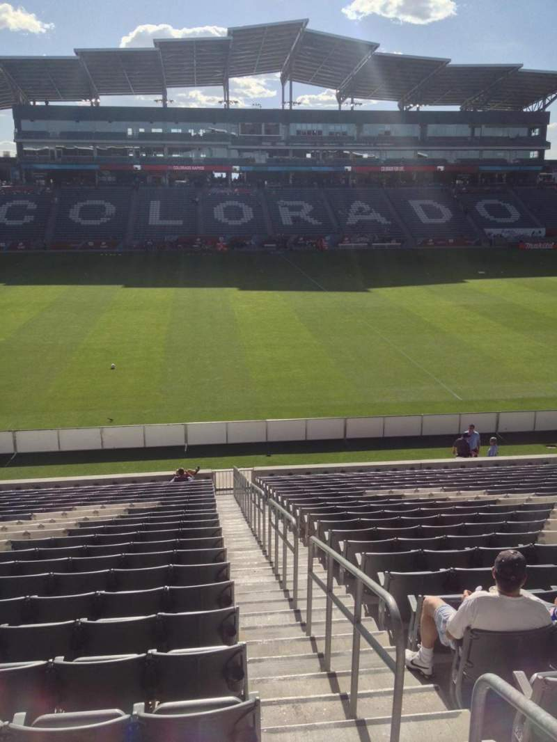 Seating view for Dick's Sporting Goods Park Section 108 Row 24 Seat 1
