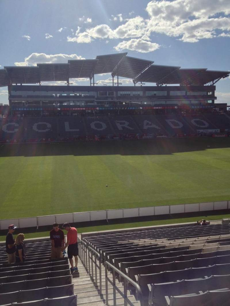 Seating view for Dick's Sporting Goods Park Section 109 Row 24 Seat 1