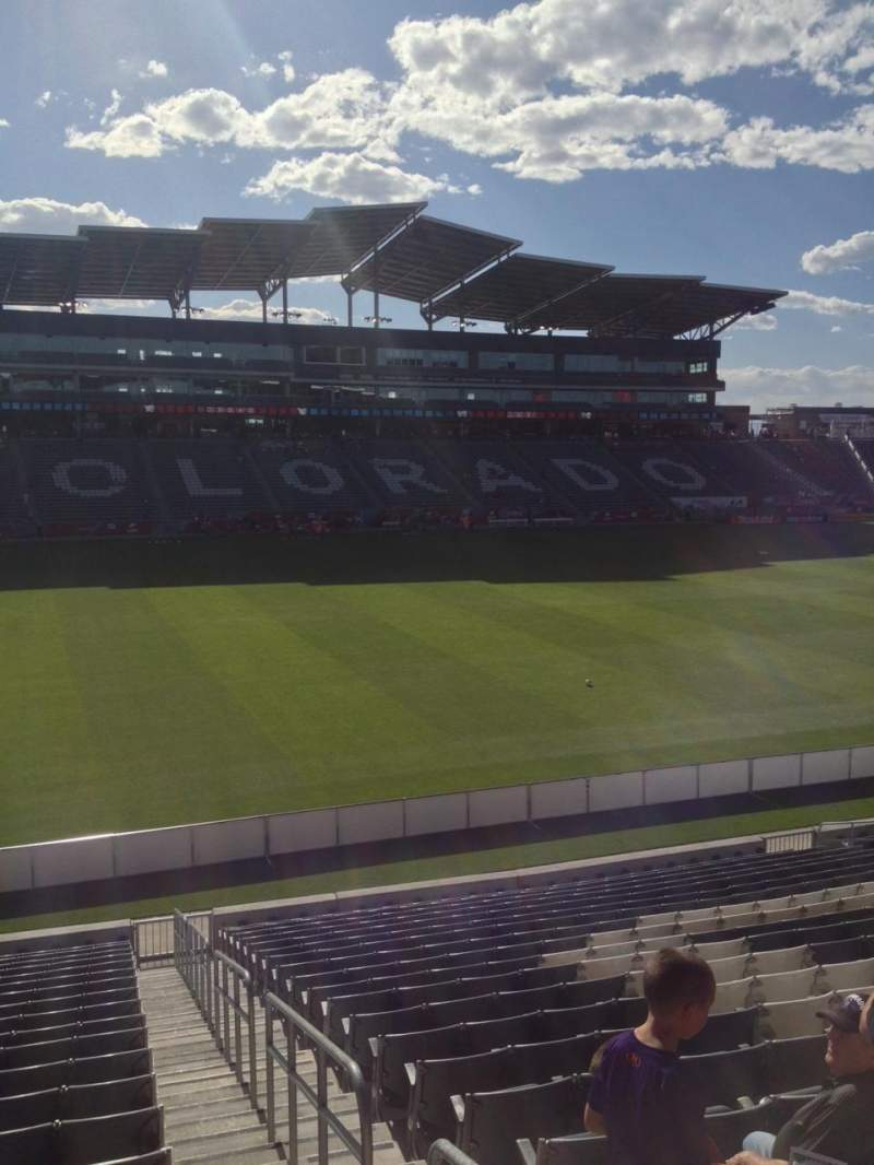 Seating view for Dick's Sporting Goods Park Section 110 Row 21 Seat 1