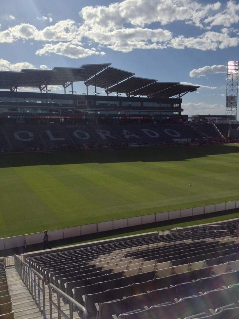 Seating view for Dick's Sporting Goods Park Section 111 Row 24 Seat 1