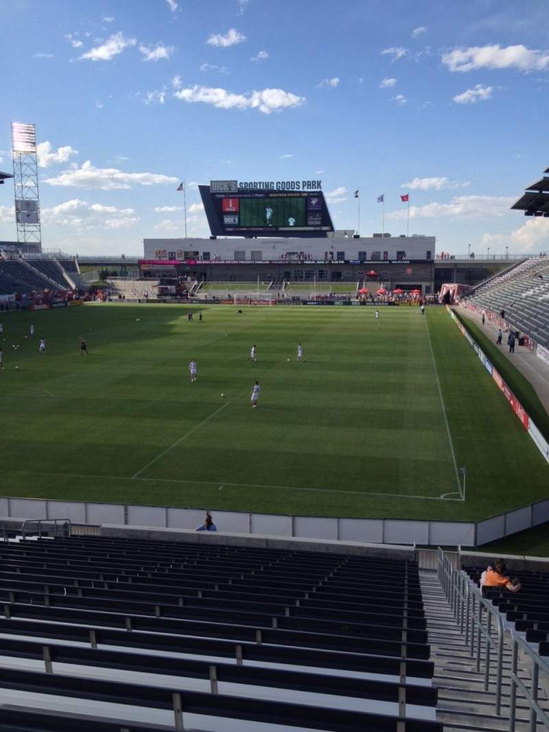 Seating view for Dick's Sporting Goods Park Section 115 Row 24 Seat 1