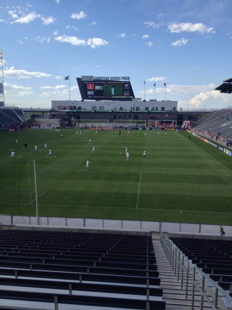 Seating view for Dick's Sporting Goods Park Section 116 Row 24 Seat 1