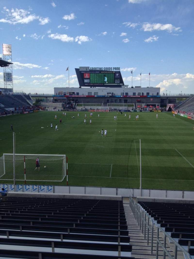 Seating view for Dick's Sporting Goods Park Section 117 Row 24 Seat 1