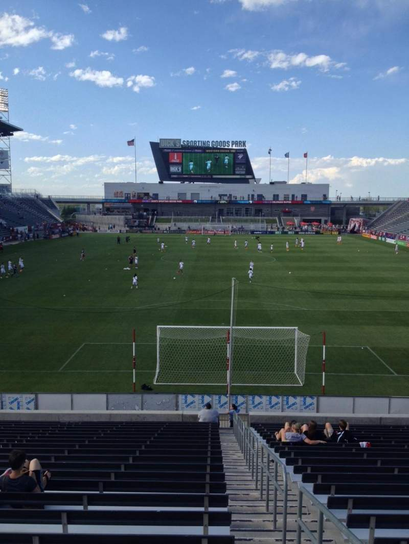 Seating view for Dick's Sporting Goods Park Section 118 Row 23 Seat 1