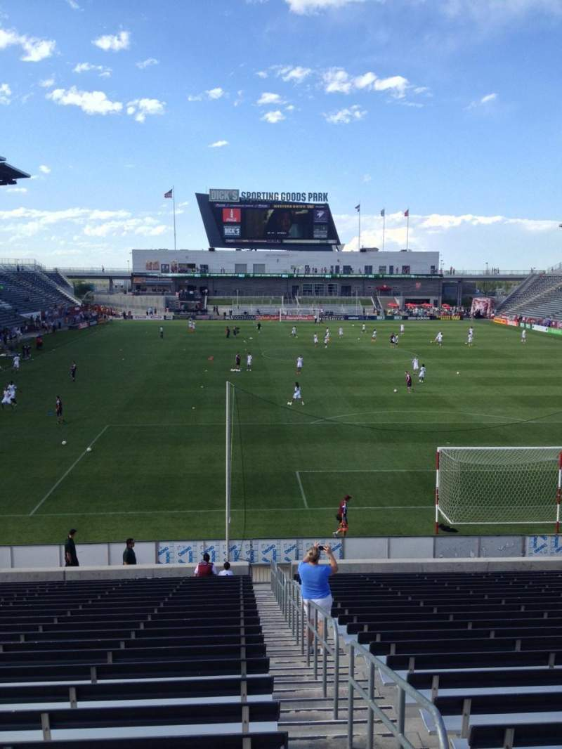 Seating view for Dick's Sporting Goods Park Section 119 Row 24 Seat 1