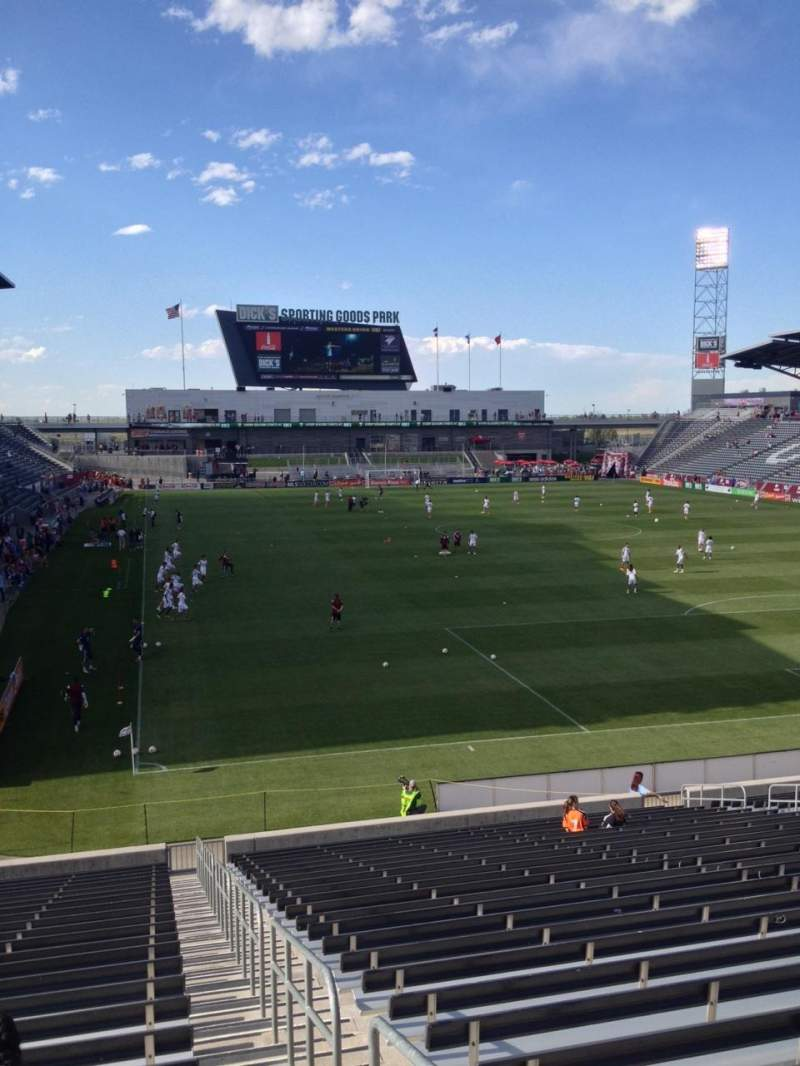 Seating view for Dick's Sporting Goods Park Section 121 Row 26 Seat 1