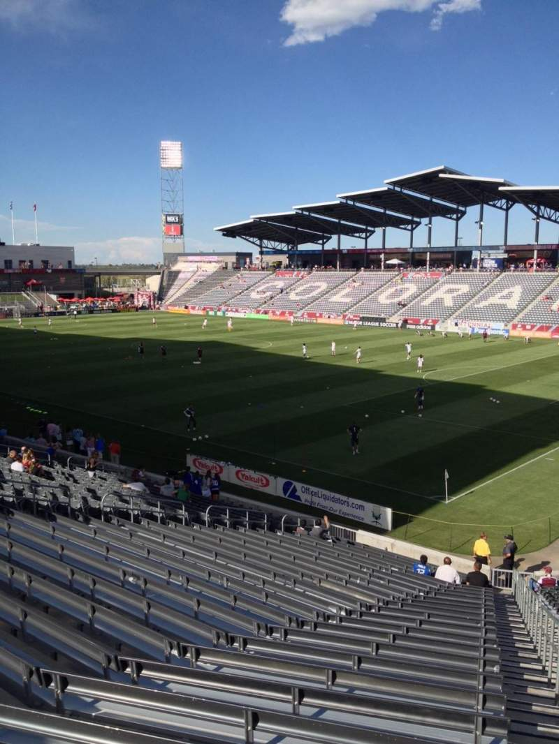 Seating view for Dick's Sporting Goods Park Section 123 Row 26 Seat 1