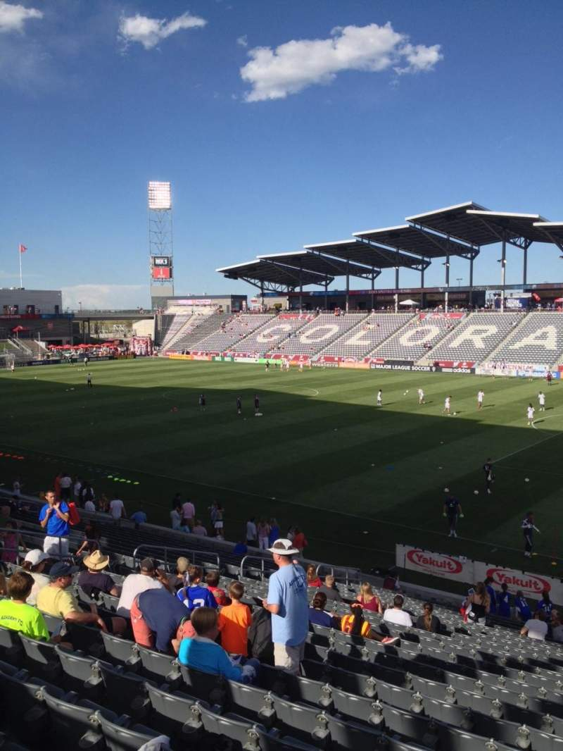 Seating view for Dick's Sporting Goods Park Section 124 Row 24 Seat 1