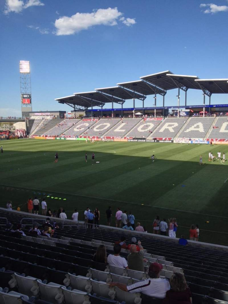 Seating view for Dick's Sporting Goods Park Section 125 Row 21 Seat 1